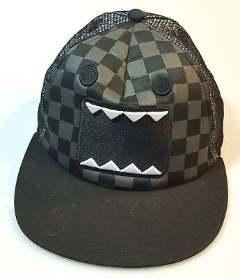 Domo Hat (Domo Black Checkerboard Trucker hat baseball cap Snapback Japanese Anime)