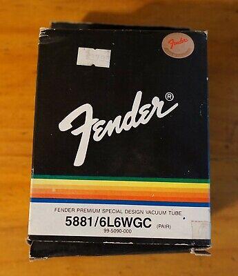 Original FENDER 5881/6L6WGC Vacuum Tubes - 2 pack NIB