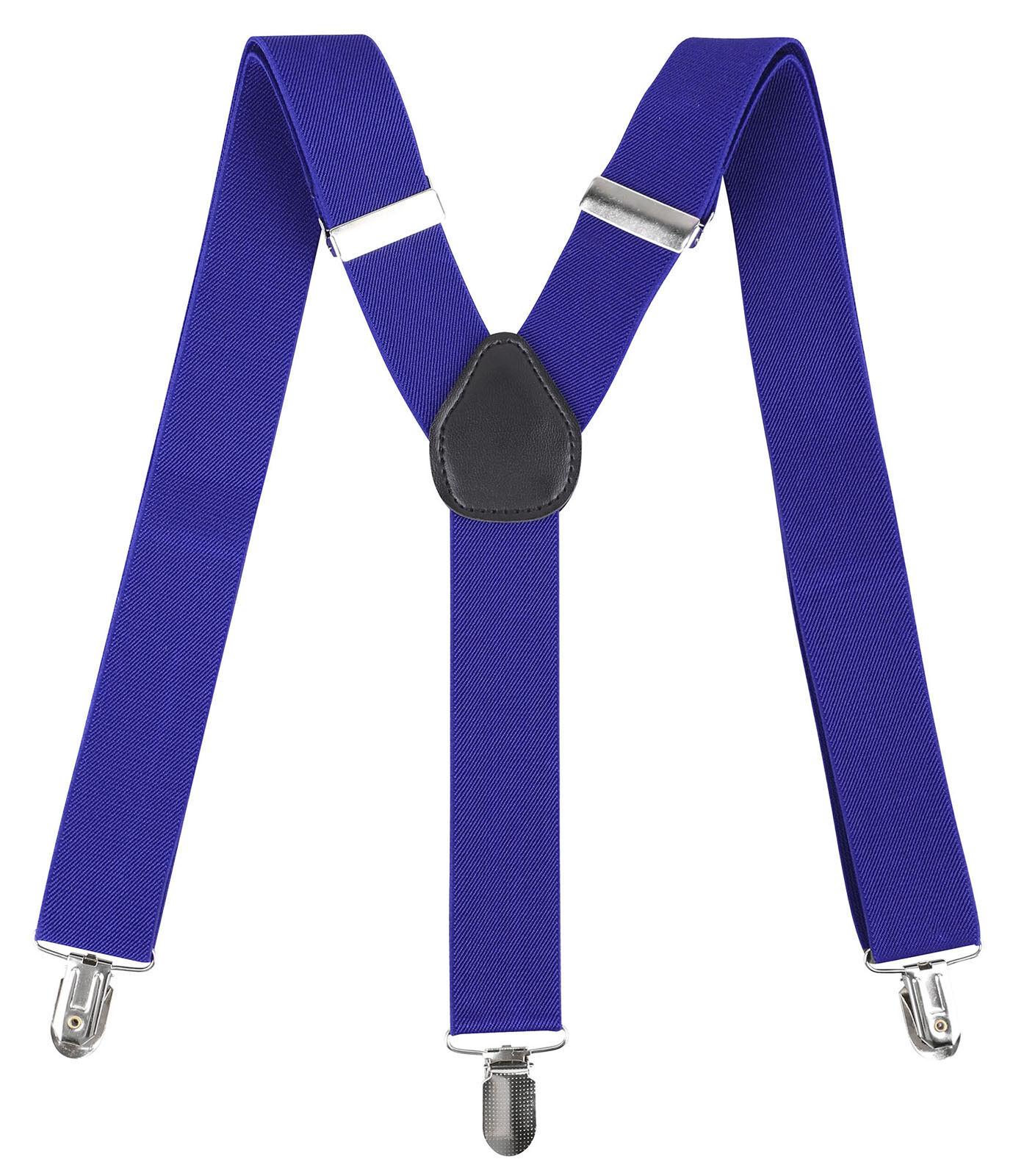 Men's Clip-on Suspenders Y Back Retro Adjustable Formal Dres