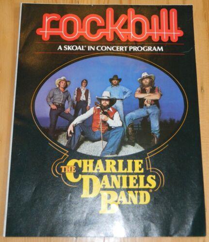 1983 Charlie Daniels Band Poster Program ~ Rockbill Concert Program ~ VGC