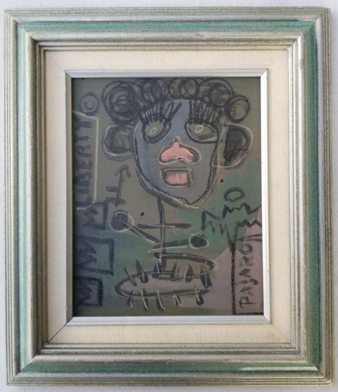 Jean-Michel Basquiat Painting on Board