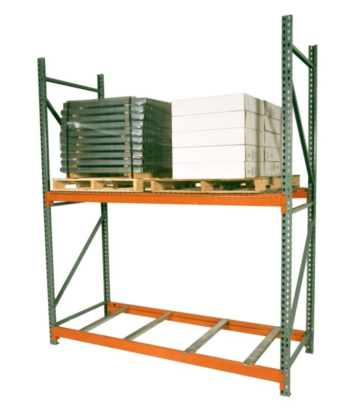 "Teardrop Pallet Rack Upright - 96""H x 42""W - 30,000 lb. capacity"