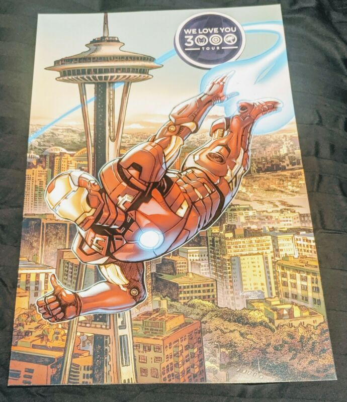 We Love You 3000 Tour Poster Seattle Marvel Endgame LE3000- Funko HQ Event