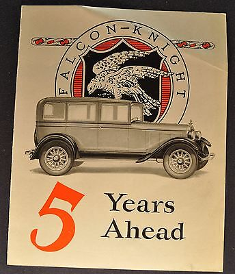 1927-1928 Falcon-Knight Sales Brochure Folder Nice Original