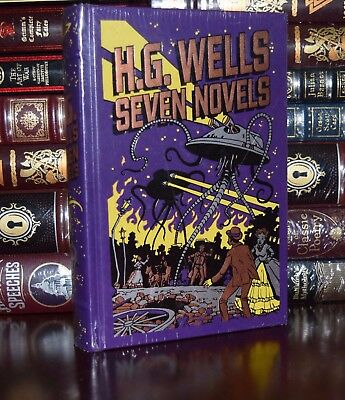Seven Novels by H.G. Wells  New Sealed Leather Bound Collectible 1st Edition HTF