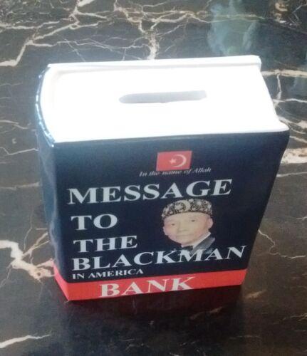 Message To The Blackman Souvenir Coin Bank