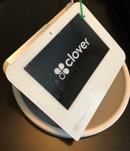 CLOVER MINI POS Point of Sale SWIVEL TURN BASE NEW w/ Visa MC Disc Amex sticker