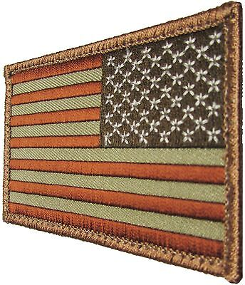 USA AMERICAN REVERSE FLAG TACTICAL ARMY MORALE MILITARY DESERT ARID HOOK PATCH