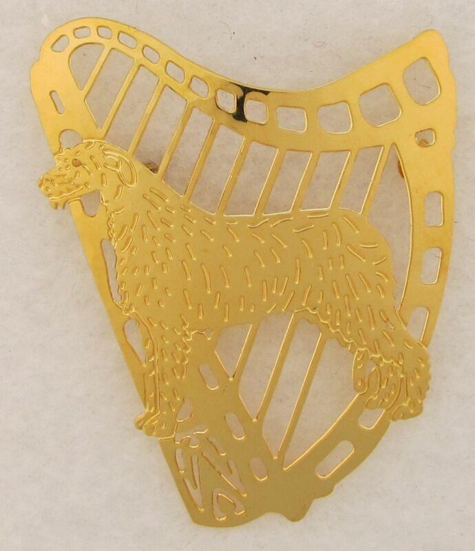 Irish Wolfhound Jewelry Large Gold Pin by Touchstone