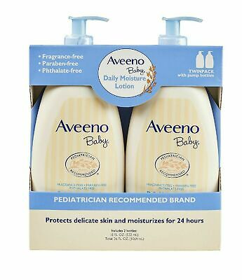 Aveeno Baby Daily Moisture Lotion, Fragrance Free (18 fl. oz., 2 pk.) Baby Daily Moisturizing Lotion
