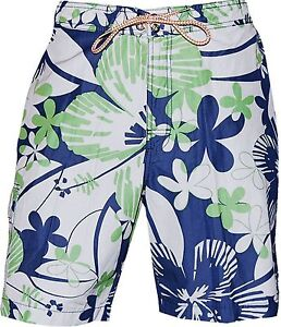 Mens $88 TOMMY BAHAMA Relax SOLAR BLOOMS Tropical SWIM SUIT Surf CARGO TRUNKS L