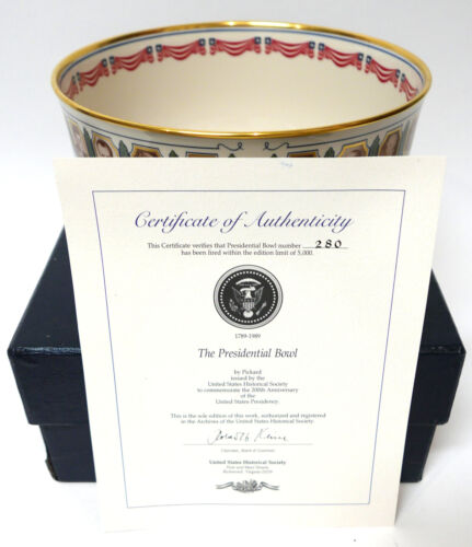 Pickard US Presidential Bowl 280/5000 200th Anniversary US Historical Society