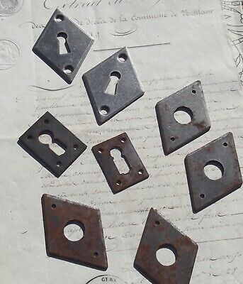 Lot of Vintage French escutcheons decorative metal key hole covers