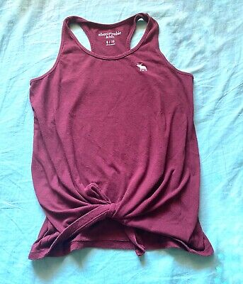 Abercrombie Kids Girls Red TANK TOP - Shirt Size 9/10 -Racerback Tee