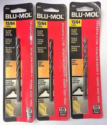 Blu Mol 13 64  High Speed Drill Bit 6634 3Pcs