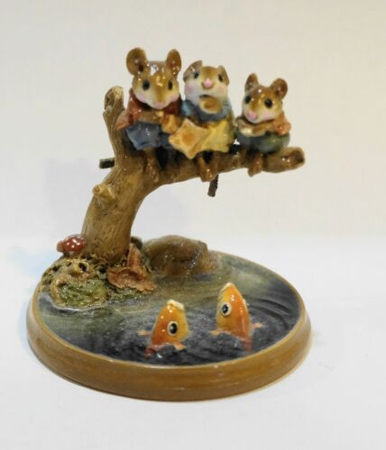 Wee Forest Folk Chums Hanging Out PM-1 Millpond Mice WFF