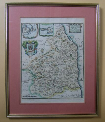 Northumberland: antique map by Richard Blome, 1673