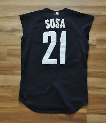 1a365c52c SAMMY SOSA 2000 MLB All Star Game Jersey Blue Chicago Cubs Sleeveless  Majestic L