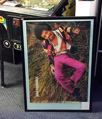 Vintage Original Rare JIMI HENDRIX POSTER 80s 70s 21x31 Vinyl/Wallpaper
