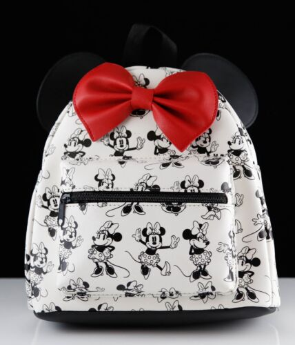 New Disney Mini Backpack - Minnie Mouse with Red Bow and Ears