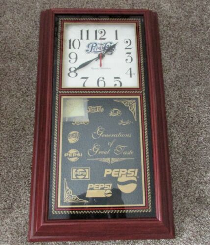 Vintage Pepsi Hanover Quartz Pendulum Wall Clock Generations of Great Taste New