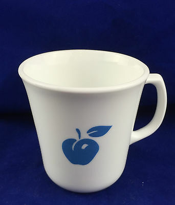 Retired Corelle Eve pattern blue cherry apple cup mug made in USA