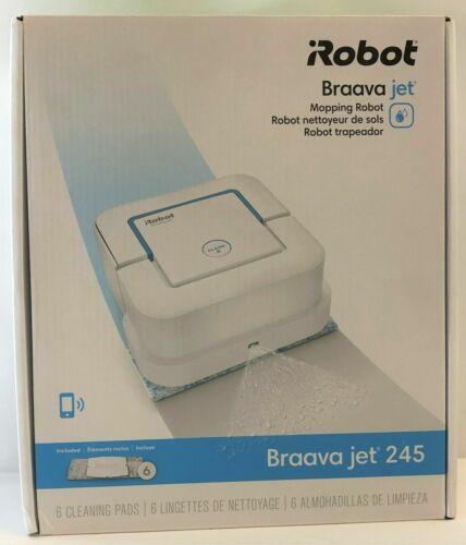 iRobot Braava Jet 245 Automatic Smart Mopping Robot - White