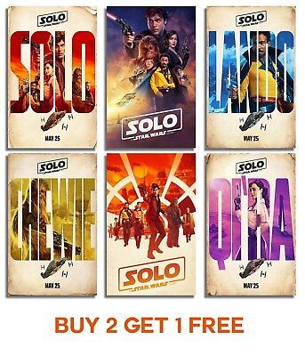 Solo A Star Wars Story Poster Print Wall Art A4 A3 A2 Movie Imax Chewie Films