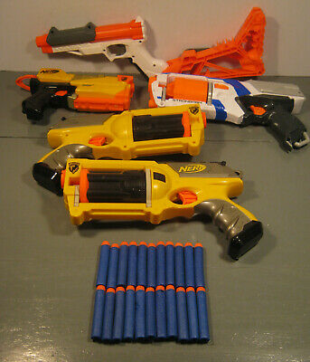 5 NERF MIXED SOFT DART GUNS LOT TR