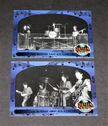 THE BEATLES © 1993 River Group Inc.Complete 2 Card 1st & Last Concert Set ~ Rare