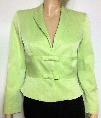 GEORGES RECH light green short blazer/ jacket with bows  - size 38 Fr. - veste