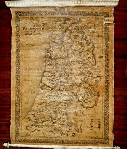 Antique Palestine Map by J.T.Assheton. Engr: Annin&Smith.Pub: Wait&Ingraham 1828