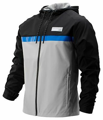 New Balance Men's NB Athletics 78 Jacket Grey with Black & Blue