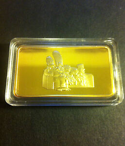 The-Simpsons-Ingot-Finished-with-999-Fine-Gold-1-Troy-Ounce-Limited-to-500
