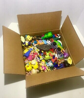 Box of mixed popular toys lot tmnt rugrats disney etc