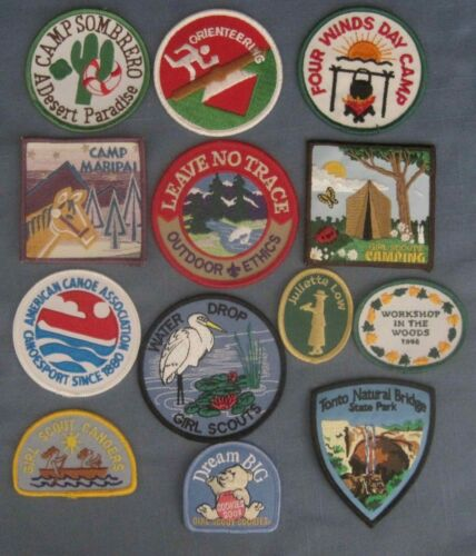 Girl Scout , Group of 13 Girl Scout Patches
