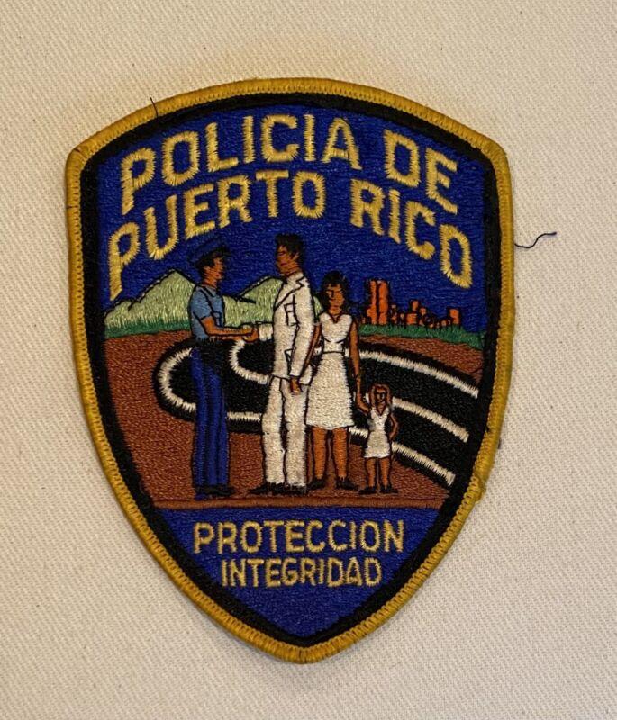 """Authentic Puerto Rico Police Arm Patch..""""Policía De Puerto Rico"""""""