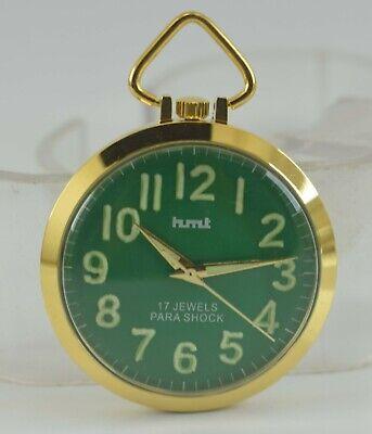 Vintage HMT Pocket Lume Fig 17J Winding Watch For Unisex Use Working Good D-5-24