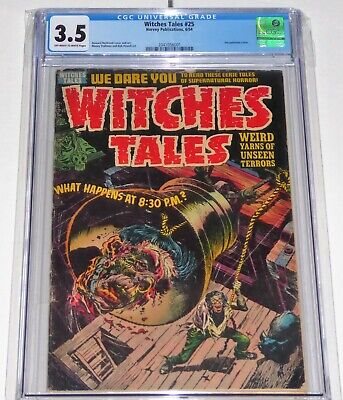 Witches Tales #25 CGC Universal Grade Comic 3.5 Decapitation Cover Horror Terror