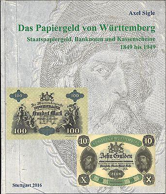 Das Papiergeld von Württemberg, Axel Sigle, Standardwerk