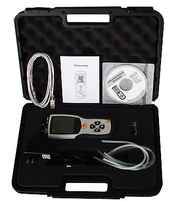 Cem Dt-8890 Differential Air Pressure Gauge Manometer Data Logger Meter Tester