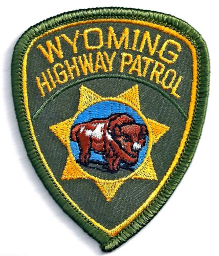 WYOMING HIGHWAY PATROL - SMALL SHOULDER PATCH - IRON OR SEW-ON PATCH