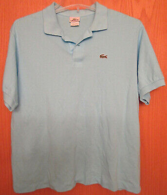 Lacoste Mens Pique Polo Golf Shirt Light Blue Size 7 XXL EUC