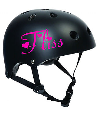 2 x Personalised Name Stickers for Bike Helmets Ravie Font Vinyl Decal BMX Kids