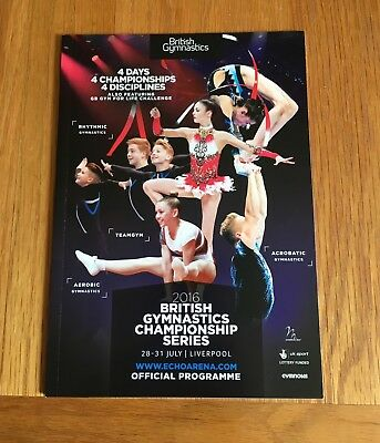 BRITISH GYMNASTICS CHAMPIONSHIP SERIES 2016-COLLECTABLE PROGRAMME