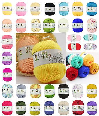 Worsted Fiber - Chic 47 Color Hybrid Fibroin Natural Worsted Knitting Yarn Baby Blend Fiber Yarn