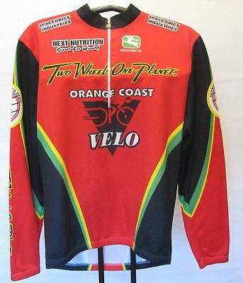 Giordana Italian Long Sleeve Thermal Cycling Jersey Sz M Orange Coast Velo 1ca520d97