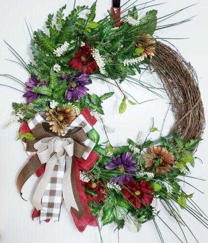 Spring Grapevine Wreath, Summer Wreath, Front Door Wreath, Spring Wreath