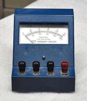 Sargent Welsh Scientific Dc Voltmeter Model S-30687 20-g Vintage School Surplus