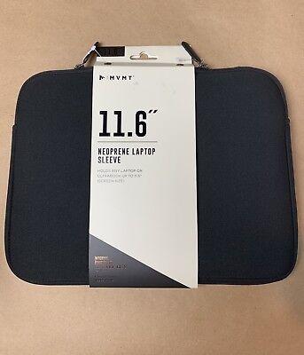 """MVMT 11.6"""" Neoprene Laptop/Ultrabook Sleeve - Faux Fur Lining - Black NEW"""